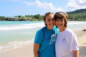 Me & Julie in Haiti- 2011