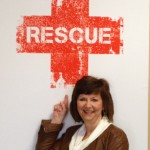 Julie with Rescue