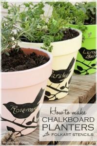 chalk pots
