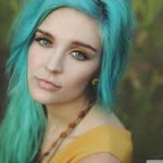 Blue Hair and Tattoos